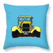 Early 1930s Ford Yellow Throw Pillow