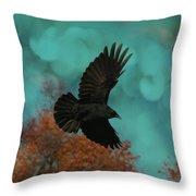 Early Autumn Flight Throw Pillow