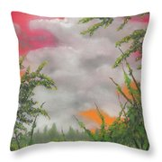 Early Autumn Moon Throw Pillow