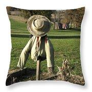 Early Autumn Scarecrow Throw Pillow
