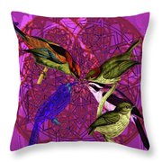 Early Bird Solar Energy Throw Pillow by Joseph Mosley