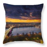 Early Bird Sunrise Throw Pillow