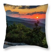 Blue Ridge Parkway Sunrise - Beacon Heights - North Carolina Throw Pillow