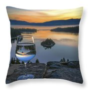 Early Drink Throw Pillow