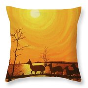 Early Dusk Throw Pillow