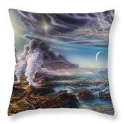Early Earth Throw Pillow