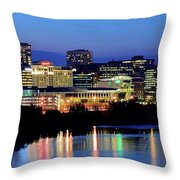 Early Evening In Hartford Throw Pillow