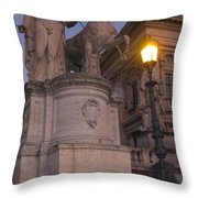 Early Evening In Rome Throw Pillow