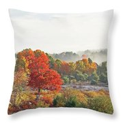 Early Fall Morning Throw Pillow