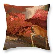 Early Fall Whitetail Throw Pillow