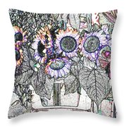 Early Flower Study Throw Pillow