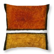 Early In The Morning Abstract Painting Throw Pillow