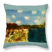 Early Landscape Throw Pillow