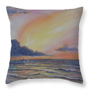 Early Joy Throw Pillow by Fawn McNeill