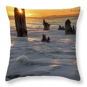 Early March Sleeping Giant Sunrize Throw Pillow