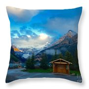 Early Moody Morning Throw Pillow