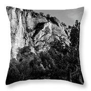 Early Morining Zion B-w Throw Pillow