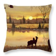 Early Morning Alert1 Throw Pillow