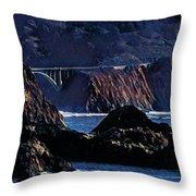 Early Morning At Bixby Creek Bridge Throw Pillow