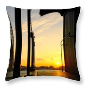 Early Morning At Edison Depot Throw Pillow