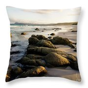 Early Morning At Friendly Beaches Throw Pillow