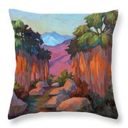 Early Morning At Indian Canyon Throw Pillow