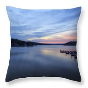Early Morning At Lake Of The Ozarks Throw Pillow