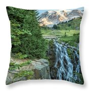 Early Morning At Myrtle Falls Throw Pillow