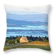 Early Morning At Sentinel Rock Throw Pillow