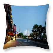 Early Morning At The Bohemian Hotel Throw Pillow