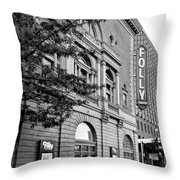 Early Morning At The Folly B/w Throw Pillow