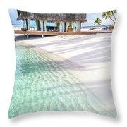 Early Morning At The Maldivian Resort 1 Throw Pillow