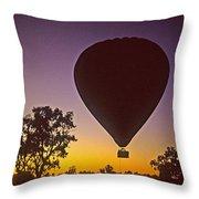 Early Morning Balloon Ride Throw Pillow