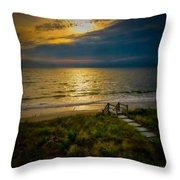 Early Morning Beach Throw Pillow