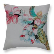 Early Morning Bloom Throw Pillow