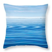 Early Morning Blues Throw Pillow