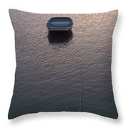 Early Morning Boat Throw Pillow