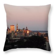 Early Morning Canada Day Throw Pillow