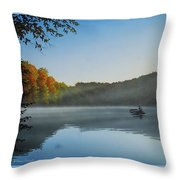 Early Morning Catch Throw Pillow