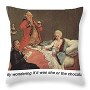Early Morning Chocolate Throw Pillow