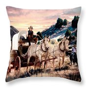 Early Morning Drive Throw Pillow