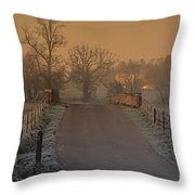 Early Morning Driveway Throw Pillow