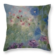 Early Morning Glory Throw Pillow