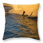 Early Morning Gold At Valletta Fortifications Throw Pillow