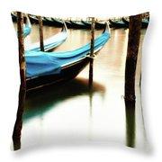 Early Morning Gondolas Throw Pillow
