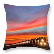 Early Morning Haul Throw Pillow