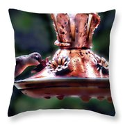 Early Morning Hummer Throw Pillow