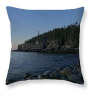 Early Morning In Acadia Throw Pillow
