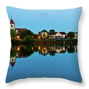 Early Morning In Basel Throw Pillow