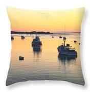 Early Morning In Chatham Harbor Throw Pillow